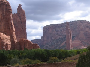 Spider Rock and Speaking Rock