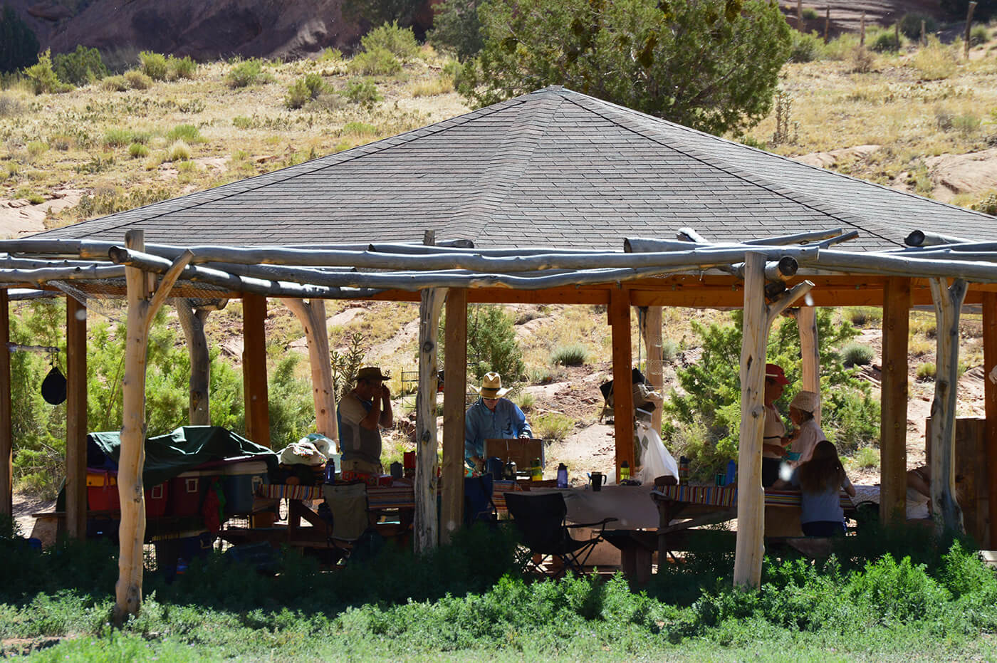Lead Feather Journeys New Mexico shade house